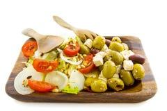 The greek salad Stock Photos