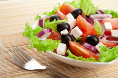 Greek salad. Closeup of fresh greek salad Royalty Free Stock Photos