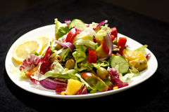 Greek salad. With feta cheese and olives Stock Images
