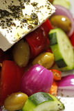 Greek salad. With feta cheese and olives Stock Image