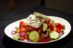 Greek salad. With feta cheese and olives Stock Photography