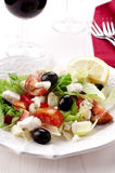Greek salad. Fresh Greek salad with feta and olives Stock Photography