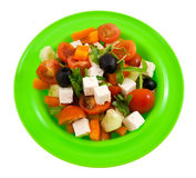 The Greek salad. Stock Photos