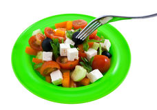 The Greek salad. Royalty Free Stock Photography