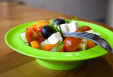The Greek salad. Stock Image