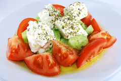 Greek salad. Fabulous shot of healthy greek salad - the cornerstone of mediterranean diet Royalty Free Stock Photography