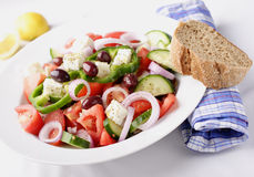 Greek salad. Authentic greek country salad Royalty Free Stock Photos