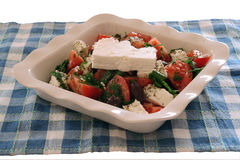 Greek salad. Special greek salad royalty free stock images