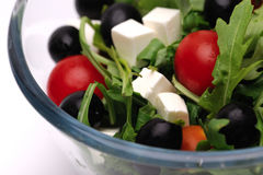 Greek salad. Close-up shot of greek salad Royalty Free Stock Images