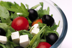 Greek salad. Close-up shot of greek salad Stock Images