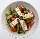 Greek salad. Fresh Greek salad with feta cheese stock image