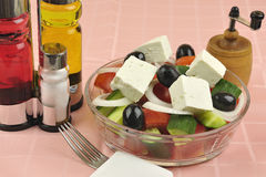 Greek salad arrangement Royalty Free Stock Image