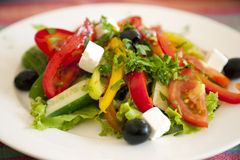 Greek Salad / background Stock Photography