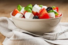 Greek salad in bowl Royalty Free Stock Photos