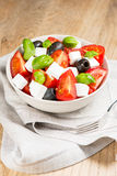 Greek salad in bowl Royalty Free Stock Photography