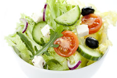 Greek salad in a bowl from above Stock Images
