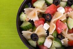 Greek salad bowl Stock Photos