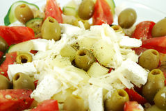 Greek salad close detail Stock Photos