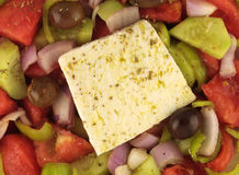 Greek Salad Close Up Royalty Free Stock Image