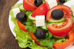 Greek salad close-up Stock Images