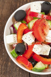 Greek salad close up Royalty Free Stock Images