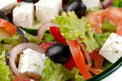 Greek salad. Close-up of Greek Salad Stock Images