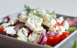 Greek salad close up Royalty Free Stock Photo