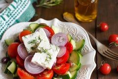 Greek salad close up Royalty Free Stock Image
