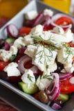 Greek salad close up Stock Image