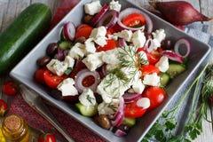 Greek salad close up Stock Images