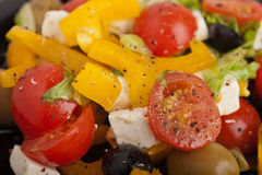Greek salad closeup Royalty Free Stock Photo