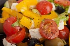 Greek salad closeup Royalty Free Stock Photo