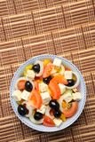 Greek Salad with Copy Space Stock Photo