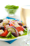 Greek salad dinner Royalty Free Stock Image