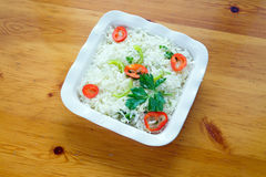 Greek salad with eggs royalty free stock image