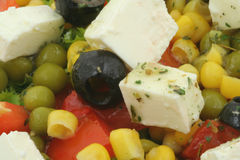 Greek Salad with Feta Cheese Royalty Free Stock Image