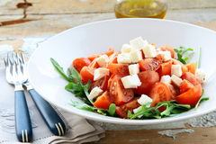 Greek  salad with feta cheese, olive Royalty Free Stock Photography