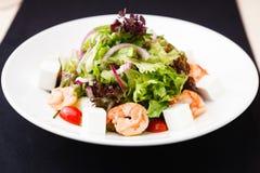 Greek salad with shrimp Stock Images