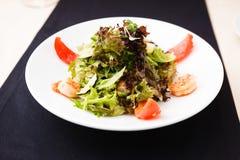 Greek salad with shrimp Stock Photos