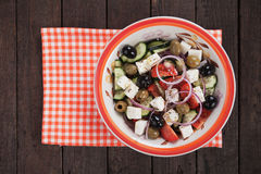 Greek salad with feta cheese Stock Photography
