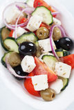 Greek salad with feta cheese Royalty Free Stock Photography
