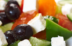 Greek salad with feta Stock Photos