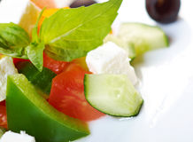 Greek salad with feta Royalty Free Stock Images