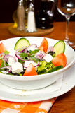 Greek salad. Fresh Greek salad in a bowl Royalty Free Stock Photos