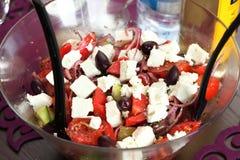 Greek salad fresh vegetable salad Royalty Free Stock Image