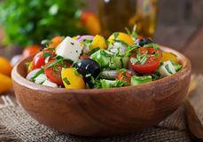 Greek salad with fresh vegetables Stock Image