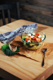 Greek salad with fresh vegetables, feta cheese and olives Royalty Free Stock Image