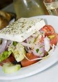 Greek salad in the greek islands Royalty Free Stock Photo