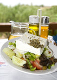 Greek salad in the greek islands Stock Image