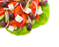 Greek salad isolated on white Royalty Free Stock Photos